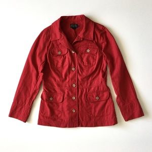 Vintage Pendleton Red Canvas Utility Button Jacket